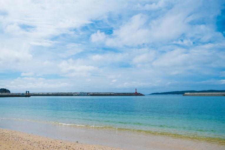 田代島観光に便利な離島の宿「潮美荘」の網地白浜の紹介