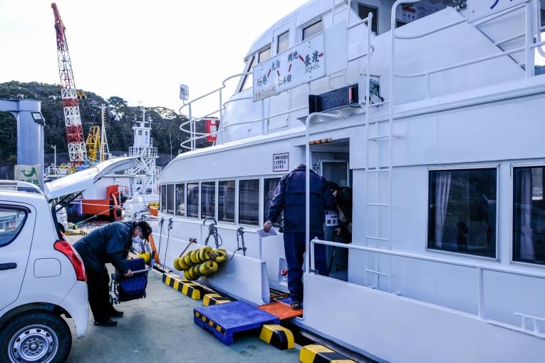 網地の漁港 猫島で有名な「田代島」と潮美荘がある「網地島」を巡る離島の旅