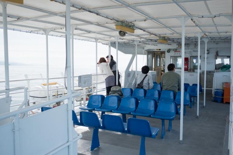 帰りのフェリー 猫島で有名な「田代島」と潮美荘がある「網地島」を巡る離島の旅